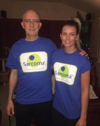 Mark and Lyndsey Howarth in Sarcoma T-shirts