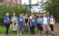 Charity walkers at Wigan