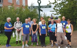 Charity walkers at Wigan