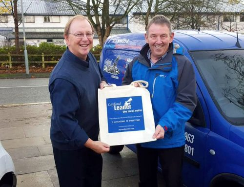Leyland Leader enjoys long term benefits from branded cotton shopper bags