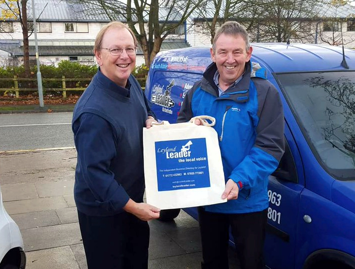 Leyland Leader cotton shopper bag hand over