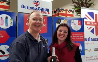 Managing Director Steve Ward pictured with Lisa Edge of Lanacashare