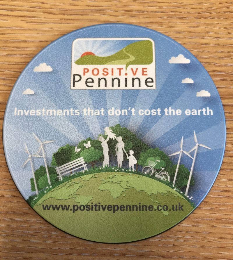 Positive Pennine Brite-Mat coaster