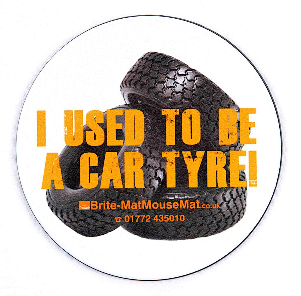 Brite-Mat Tyre coaster